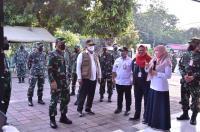 Panglima TNI Cek Penerapan Aplikasi Silacak Dan Inarisk Di Puskesmas Halim Perdanakusuma